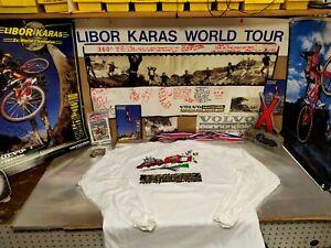 Libor-Karas-Volvo-Cannondale-Team-Racing-T-Shirt-Missy-Myles-Tinker-96-Tour-XL