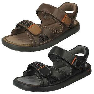 Herren Clarks Unstrukturiert Open Toe Sommer Sandalen Style - Unwilmore Sun