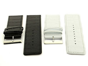 Two-Piece-Genuine-Leather-Watch-Strap-Band-Croco-30-32-34-36-38-40-SPEC-WB-MM