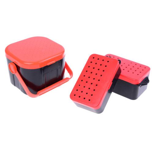 2 Fächer Angelköder Regenwurm Wurmköder Tackle Box Aufbewahrungskoffer D H5D$N