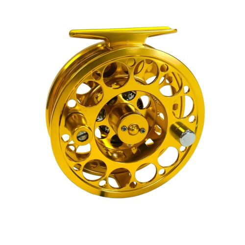 5//6 or 7//8 wt. EatMyTackle Large-Arbor Gold Saltwater Fly Fishing Reel 3//4
