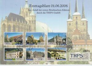 Thps-Thuringe-Batiments-dans-Erfurt-Feuillet-Commemoratif
