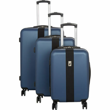 LONDON FOG  Blue Canterberry Suitcases SMALL £88 PRICE INCLUDE BOTH LARGER