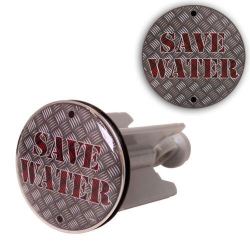 Posten 10 Stück Waschbecken Stopfen Stöpsel Abfluss Bad Save Water 316