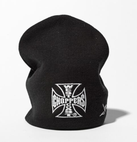WEST COAST CHOPPERS Beanie Iron Cross Basic Knitted Jesse James Casquette Capuchon NEUF