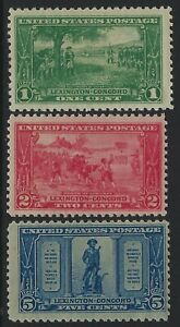 US Stamps - Scott # 617, 618 & 619 - Complete Set - Mint Never Hinged    (Q-867)