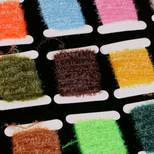 15 Karten Ice Chenille Bindematerial Flash Tinsel Cactus Chenille Medium Crystal