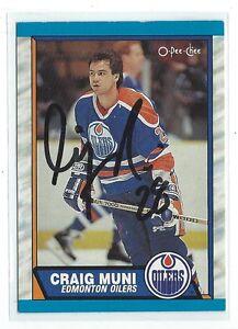 Craig Muni Signed 1989/90 O-Pee-Chee Card #331