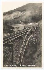POSTCARD-CANADA-ALBERTA-BANFF-RP. A Train on The Stoney Creek Bridge.