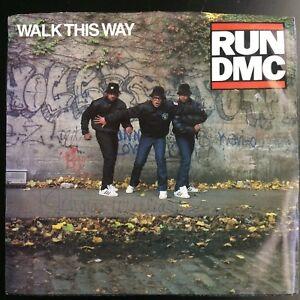 RUN-DMC-Walk-This-Way-King-Of-Rock-Vinyl-45-Profile-EXCELLENT