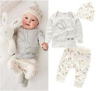 Baby Kinder Bekleidung 3 Tlg Hase Tiere Mädchen Junge Shirt Hose 68 / 74