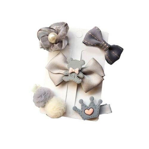 24pcs//Set Baby Hair Clips Cartoon Headband Bow Crown Flower Hairpins Barrettes