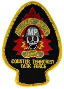 MP-Sniper-Military-Police-Counter-Terrorist-Task-Force-Iron-on-Hat-Patch-F1D7C