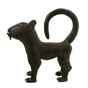 Grande-Pantera-Leopardo-Regno-Benin-Nigeria-38cm-Tipografica-Africano-1241