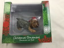 Sandicast Yorkshire Terrier With Santa Hat Christmas Holiday