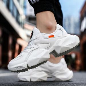 Mens-Sneakers-Athletic-Leather-Outdoor-Running-Platform-Casual-Jogging-Shoes-Ins
