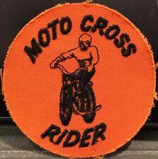 Moto Cross Rider Sew On Embroidered Patch ~ Man Rides Dirt Bike ~ Bike Racing