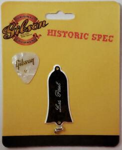 Gibson-Historic-039-61-Truss-Rod-Cover-Les-Paul-grave-2-Ply-Authentique-Avec-Pick