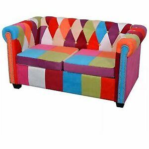 Vidaxl Chesterfield Sofa 2 Seater Fabric