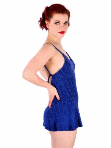 Vintage Womens S Swimsuit Bathing Suit Royal Blue