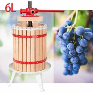6L-Obstpresse-Weinpresse-Saft-Presse-Frucht-Juicer-Obstmuehle-Muehle-Entsafter
