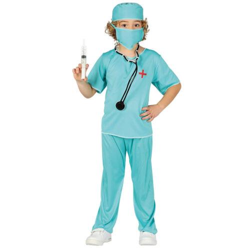 Arzt Kostüm Chirurg für Jungen Mädchen Ärztin Krankenhaus Doktor-Kostüm Kinder