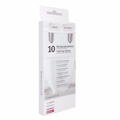 1x Entkalkungstabletten 00311556 1x Bosch Siemens Reinigungstabletten TZ80001