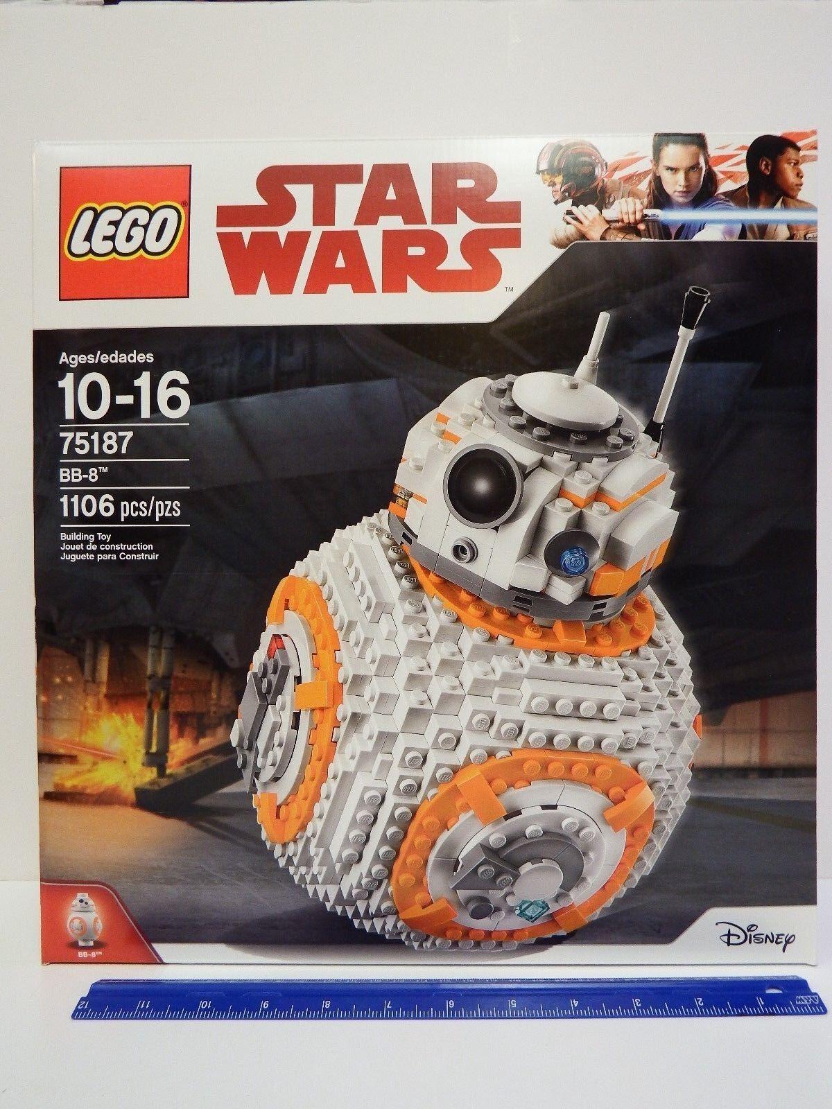 Lego Star Wars-Modelo Nº 75187-BB-8 - 1106 Pc Set-Edad 10-16 - Doblado Caja Dentada