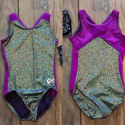 NWT GK Elite Kelly Green Black Sublime Gymnastics Leotard Child /& Adult Sizes