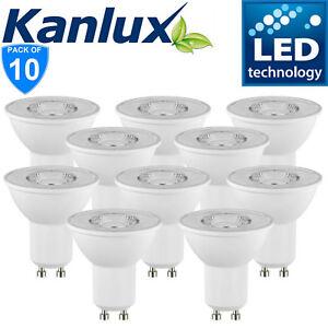 Handelspackung-x10-Kanlux-Nicht-Dimmbar-Tomi-Led-6W-GU10-Tageslichtweiss