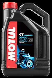 4-LT-Litri-Olio-Motore-Per-Tagliando-Moto-Motul-4T-3000-20W50-Minerale-MA2