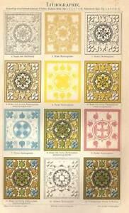 1893 TECNICA LITOGRAFICA Antica Stampa CROMOLITOGRAFIA - Italia - 1893 TECNICA LITOGRAFICA Antica Stampa CROMOLITOGRAFIA - Italia