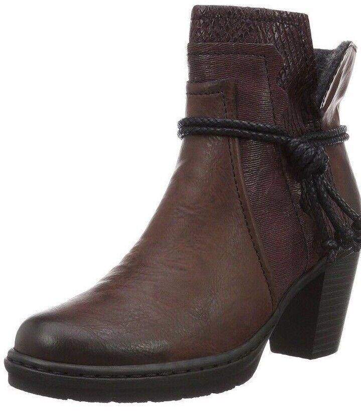 Rieker  2 Women's Y1562 Ankle Boots Red (Vinaccia/Bordeaux/36) 8 EU #
