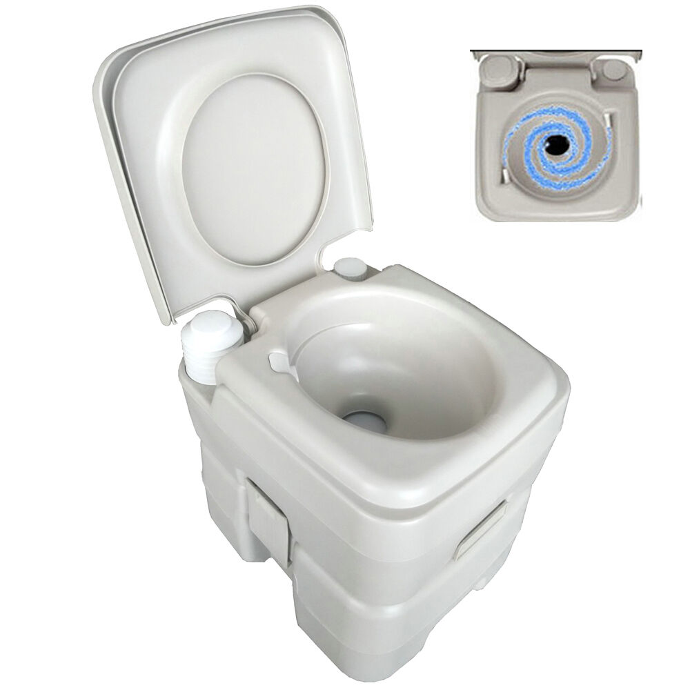 New 5 Gallon 20L Portable Toilet Flush Travel Outdoor Camping Hiking Toilet