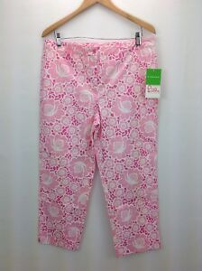 stretch Size floreale 630306321846 Capris 12 Pulitzer Women's Lilly Pink YwHCHq