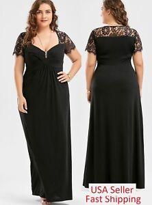 Details about Plus Size Women Long Maxi evening Dress Formal Bridesmaid  Prom High Waist 60