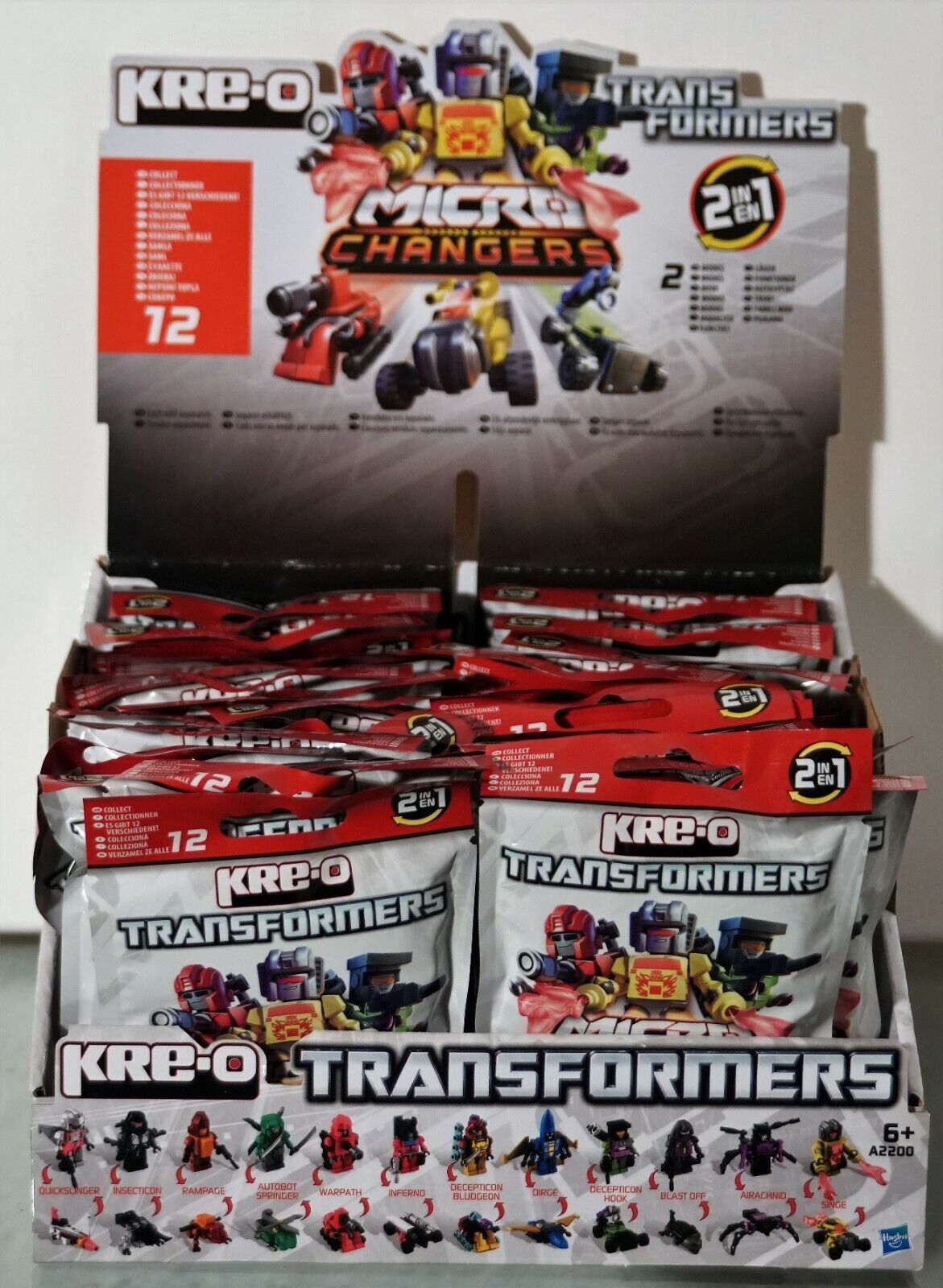 KRE-O Transformers-Beast Micro Changers Blind Bag Set 1 Satz Set = 12 Fig. Kreo