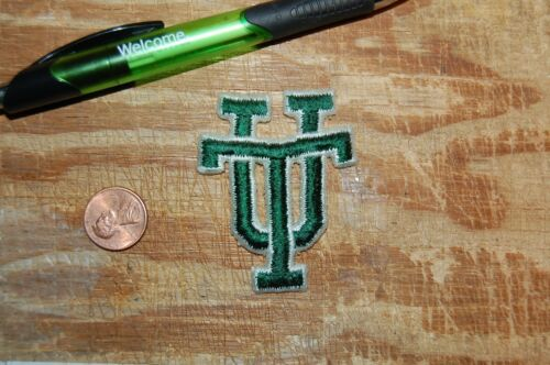 "Tulane Green Wave /""UT/"" 2 3//8/"" Logo Patch College"