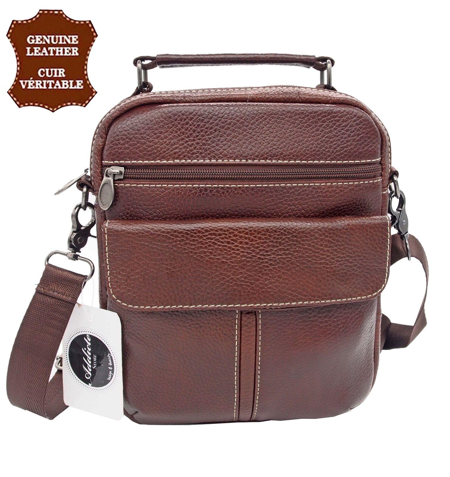 d1b394d03e Borsa borsa tracolla Grande modello Uomo vera pelle | eBay