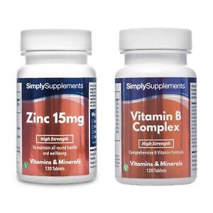 Zinc-15mg-120-Tablets-Vitamin-B-Complex-120-Tablets-For-General-Health