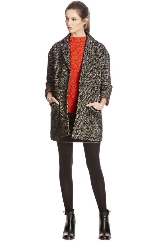 Warehouse Neon Tweed Coat 14
