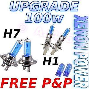 High Beam Supreme Light H7 100w Citroen Xenon Upgrade Headlight Bulbs Dip