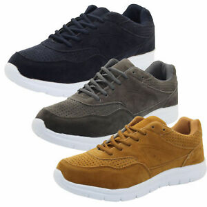 New-Mens-Trainers-Gym-Gents-Lace-up-Running-Sport-Suede-Look-weight-Fitness-Shoe