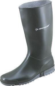 1614-Moderner-Damen-Gummistiefel-Dunlop-Sport-gruen-Gartenstiefel-PVC-Stiefel-NEU