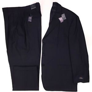 Brooks-Brothers-50R-Suit-Navy-Blue-Wool-Blend-Stretch-Mens-Size-New-Nwt-3-Button
