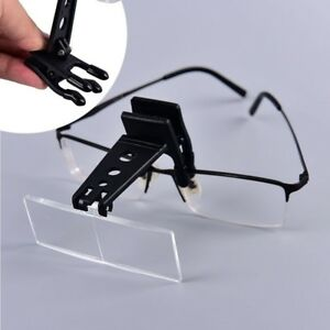 Clip-on-Eye-Handheld-Magnifying-Glass-Magnifying-Lens-Eyeglasses-With-3-Lens-N7Z