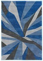 Hand Carved Fragmented Blue & Grey Modern Wilton Rugs 120x170cm