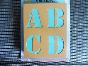 Buchstaben-Schablonen-Packung-a-132-Stueck-in-ABC-Saloonschrift