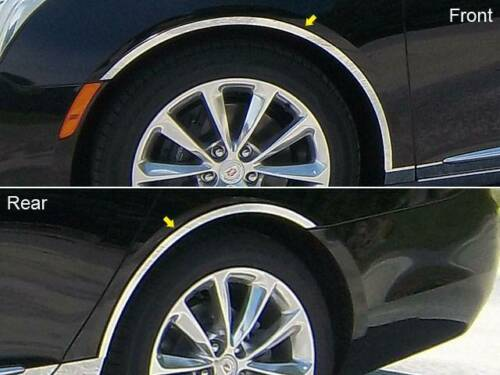 QAA 2013-2017 Fits Cadillac XTS 4 piece Stainless Wheel Well Accent Trim