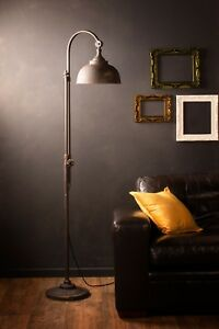 Industrial Floor Lamp Retro Vintage Style Iron Black Metal